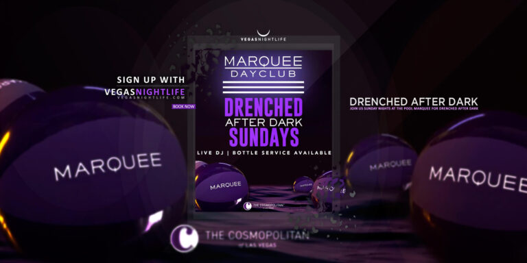 Marquee Drenched After Dark Sunday