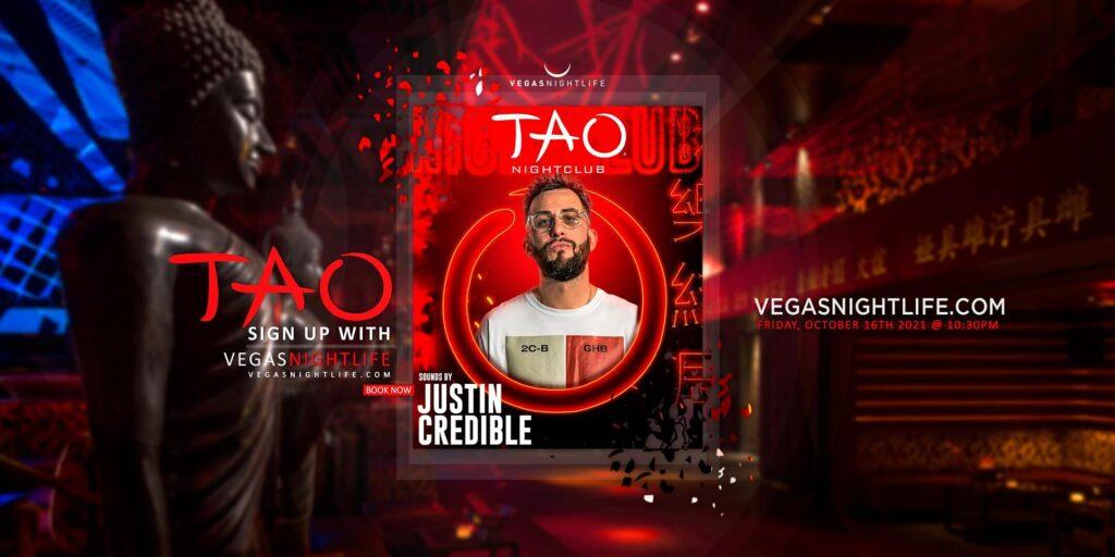 TAO Nightclub Saturday with Justin Credible